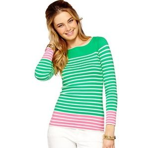 Lily Pulitzer Maria Boatneck Striped Sweater